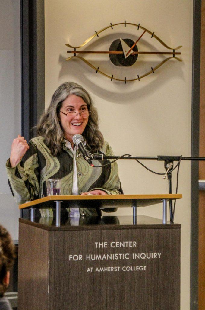 Karen Skolfield speaking at Amherst College's Litfest 2020