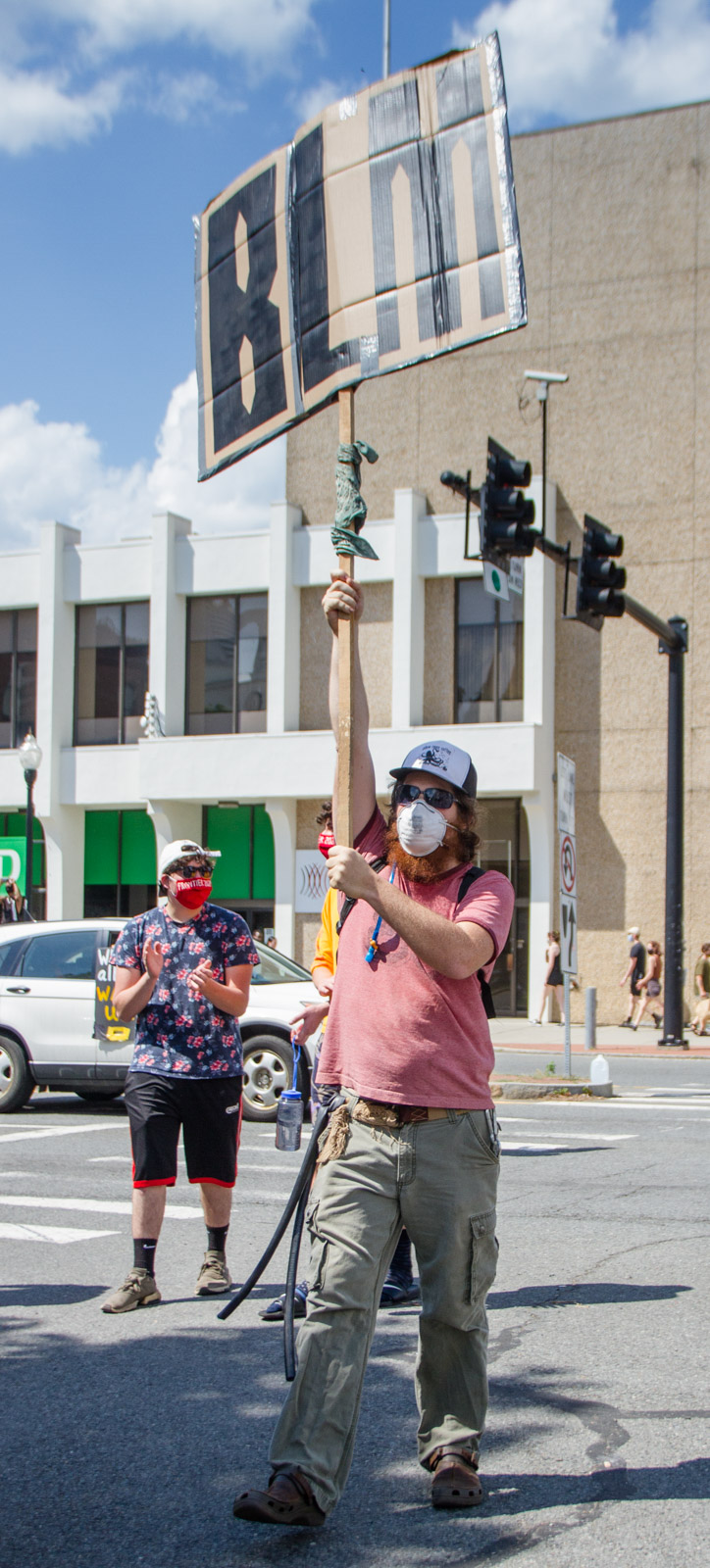 Black Lives Matter protest in Greenfield MA, Sat June 6, 2020